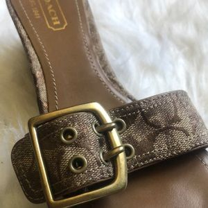 Barely loved coach sandals 7